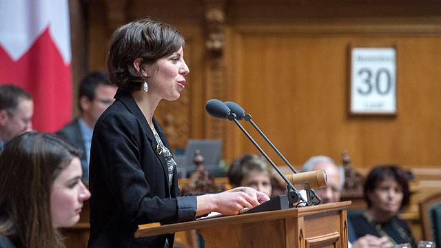Lisa Mazzone au Parlement